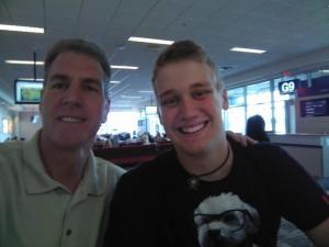 Chris and me