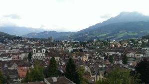 Lucerne, Switzerland from a hillside tower