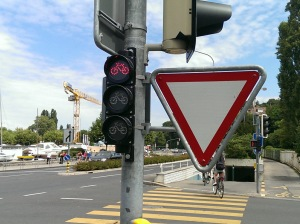 Traffic light for bikes