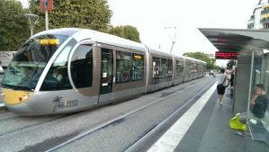 Cool looking LRT we took from our hostel to the old city and beach in Nice