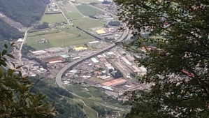 View of A25 Highway through Montreux
