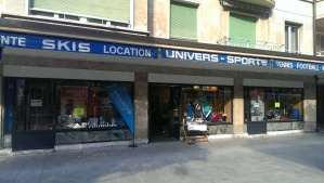 Sports store, bought a basketball here