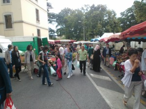 shopping at the market