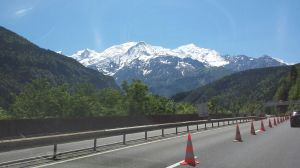Italian Alps on our way to Genoa