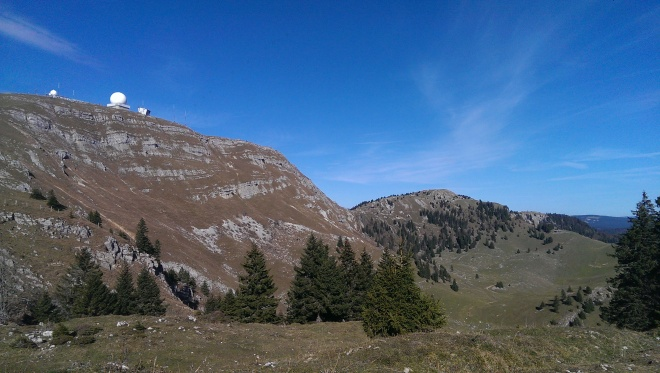 We hiked up this mountain, La Dole.