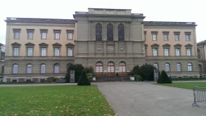 "University of Geneva Administrative Building, the ""screen"" for the Coup de Soleil"