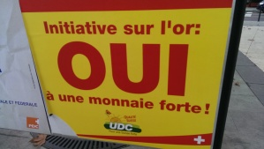 """A """"Yes"""" billboard for the Swiss Gold Initiative"""