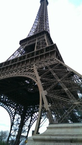 The Eiffel Tower from up close