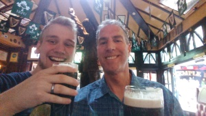 Chris and me with our 2 Guinness