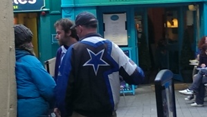 Dallas Cowboy fan in Dublin