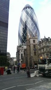 Old and new architecture in London