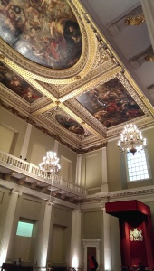 Artwork on Banqueting Hall ceiling