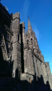 The Cathedral tower is 160.feet tall