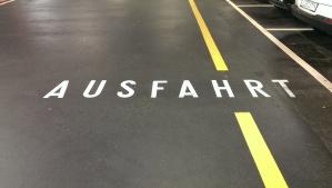 Ausfahrt means exit