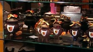 Chocolate pots for Fete d'Escalade