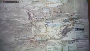 Jura Mountains cross country ski map