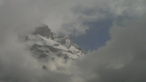 Alps peaking through the clouds