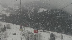 Snowfall on my way up the mountain