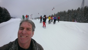 A group of skiers and me