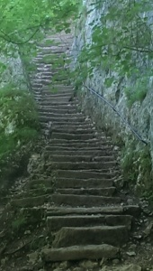 Stone stairs on La Salève trail