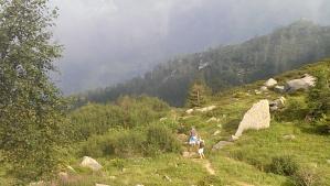 Hiking the Dolomites.