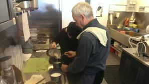 Philippe working