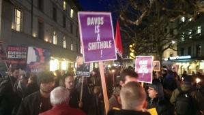 Signs at anti-trump demonstration