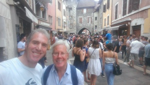 Rodger and me in Annecy